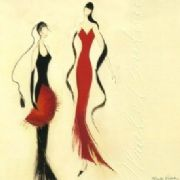 Lady in Red / Lady in Black Greeting Card